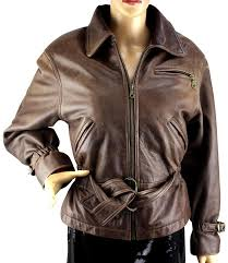 brown leather jacket image 0
