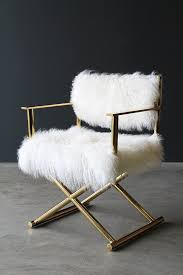 mongolian fur directors chair