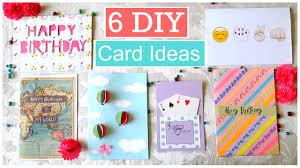 Diy Kids Birthday Card Diy 6 Easy Greeting Card Ideas Youtube