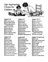 Age Appropriate Chores Chart For Children Fatherly