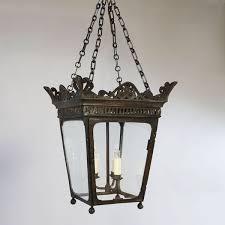 an early 19th century bronze hanging lantern