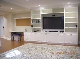 Built In Office Desk And Cabinets Desk Cabinets Tv Shelves Built Ins For Living Room