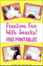 fraction fun with snacks free printables