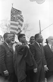 Ralph Abernathy, James Forman, Martin Luther King Jr., and Jesse Douglas at  a civil rights march in Montgomery, Alabama. - Alabama Media Group  Collection - Alabama Department of Archives and History