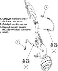 solved where are the o sensors located on the ford fixya engine heated oxygen and catalyst monitor sensors 2 3l engine 44e2701 jpg