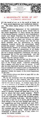 cubism is a degenerate art form i hate cubism people who hate cubism a degenerate work of art the art world 1917