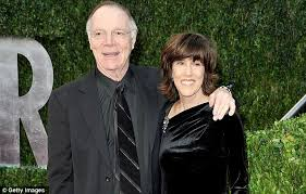 nora ephron dead writer and director hinted of illness in book i lasting love nicholas pileggi and nora ephron at the oscars in 2010 had