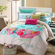 pink fl print bedding set