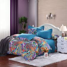 royal blue purple and orange tropical hawaiian themed waverly garden images full queen size bedding sets