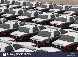 texas department of public safety dps patrol cars await ignment to officers at a parking lot at dps headquarters in austin