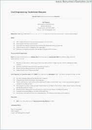 Engineering Technician Resume Impressive Civil Engineering Resume Examples Beautiful Professional Engineering