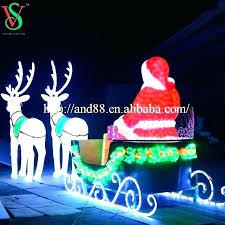 outdoor sleigh and reindeer large santa