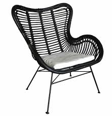 Zwarte Rotan Vlinderstoel 70x76x90 Cm Sweet Living Shop