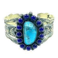 Navajo Turquoise and Lapis Bracelet -Freddie Maloney | Native American  Jewelry