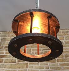 steampunk lighting. Rustic Chandelier, Industrial Light, Light Fixture, Pendant Steampunk Cage Unusual Gift Lighting M