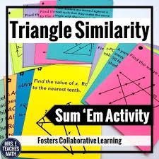 triangle similarity sum em activity triangle similarity sum em activity