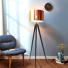 lamp retro tripod studio floor lamp with copper shade antique brass lamps vintage wooden