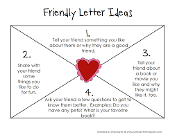 letter writing topic how to write a friendly letter free printables friendly letter