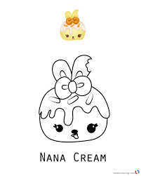 Fashionable Idea Nom Coloring Pages Nana Cream Num Noms Series 1