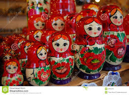 Colorful russian dolls - Matroshka