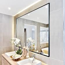 rectangle wall mounted mirror hangs