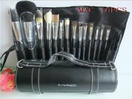 mac brushes 32 pcs 16pcs cosmetic makeup brush set with leather pouch bag