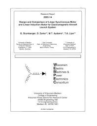 pdf design and parison of linear synchronous motor and linear induction motor for electromagnetic aircraft launch system