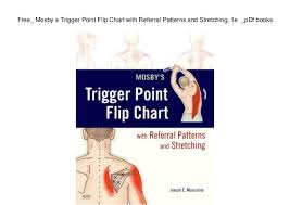 Free Trigger Point Chart Free_ Mosby S Trigger Point Flip Chart With Referral