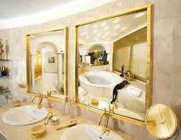 Gold Bathroom Gold Bathrooms Bathroom Sink Under Window Gold Trim Mirror Gold