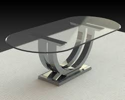 oval glass dining table. oval glass dining table room modern with chrome fixtures table. image by: woodcraftca