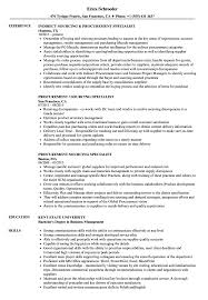 Resume Procurement Specialist Procurement Sourcing Specialist Resume Samples Velvet Jobs 18