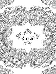 Coloring Pages Free Printable Valentines Adult Coloring Pages Page