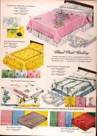 vine sears bedspread sears catalog highlights spring summer 1958