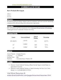 Sample Resume Format For Civil Engineer Fresher Sample Resume