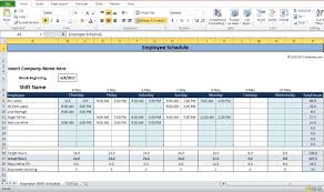 Free Employee Scheduling Template Excel Weekly Employee Shift Schedule Template Free Download For