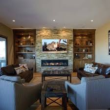 da vinci fireplace family room remodel overview of family room custom cabinetry with inch linear da