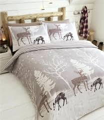 cotton duvet sets warm winter stag duvet sets in flannelette brushed cotton quilt cover bedding cotton