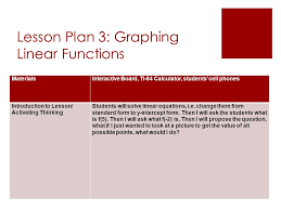 lesson plan 3 graphing linear functions