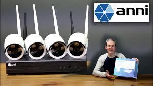 Anni – 4 <b>Wireless</b> Security Cameras + Video Recorder <b>NVR</b> Kit ...