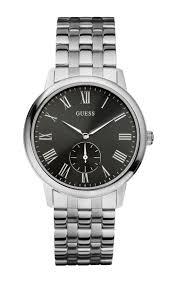 guess wafer men s stainless steel bracelet watch