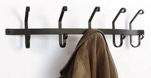Wall Mounted Coat Rack With Hooks Coat Racks Hooks Wrought Iron Wall Mounted 13