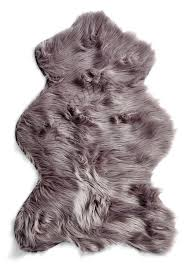 australian sheep faux fur animal shaped rug in silver tourance com sheepskin rug sheep silver gray e1412817905666