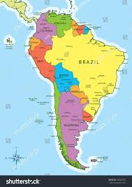 south america countries inside map and capitals  roundtripticketme