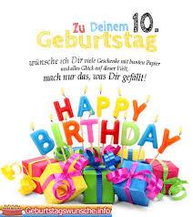Gedichte Zum 10 Geburtstag Wünsche Zum Geburtstag