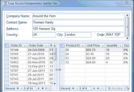 What Is Microsoft Access Microsoft Access Splitter Bars On Forms Let Users Adjust The