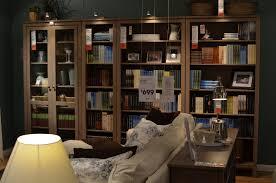 bookshelf amusing metal ikea mesmerizing modern bookcases bookshelves dark brown with glass door and sofa lagold