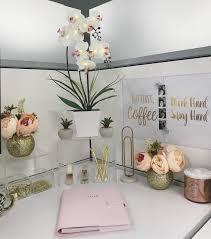 Cubicle office decor pink Work Cubicle Desk Decor Gold Pink Clear Pinterest Cubicle Desk Decor Gold Pink Clear Desk Updates Pinterest