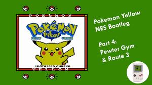 Pokémon Yellow NES Part 4 - Pewter Gym & Route 3 - YouTube