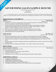 Brilliant Ideas of Advertising Sales Resume Sample About Download