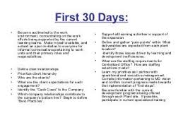 30 60 90 Business Plan 30 60 90 Days Plan To Meet Goals For New Organization Project